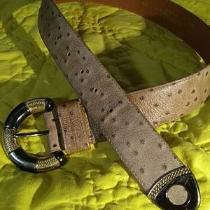 Comeco Spotted Brown Tan Leather Belt S/M 9132